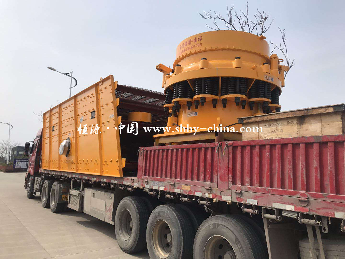 Equipment Delivery of Sandstone Production Line - Hengyuan C