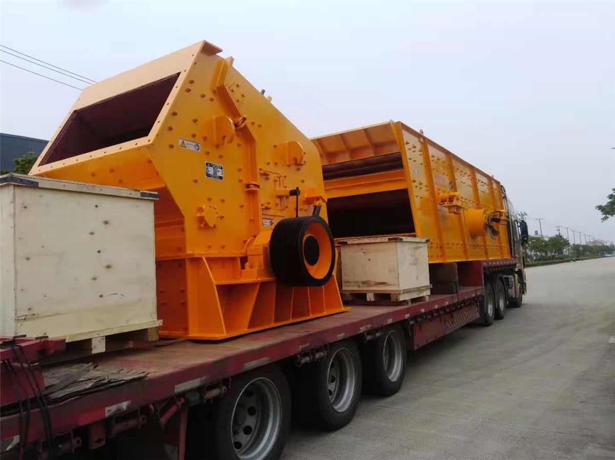 江西砂石生产设备发货回顾-上海恒源破碎机