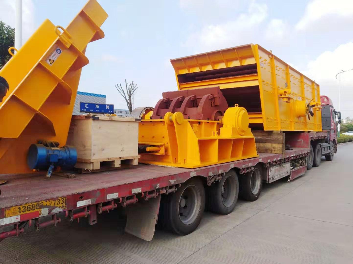 湖南时产300吨砂石生产线破碎制砂设备发货回顾