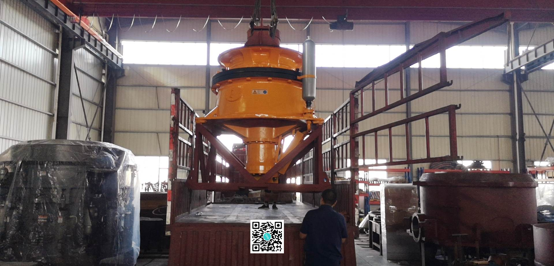 Single cylinder cone crusher delivery photo and production line work video