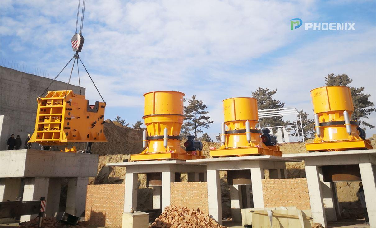 辽宁铁矿石破碎生产线设备安装现场实况集锦