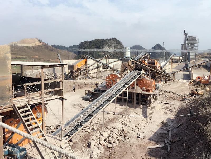 白雲岩碎石(shi)生產線