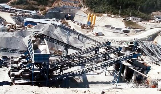 时产1200吨基建骨料破碎制砂生产线