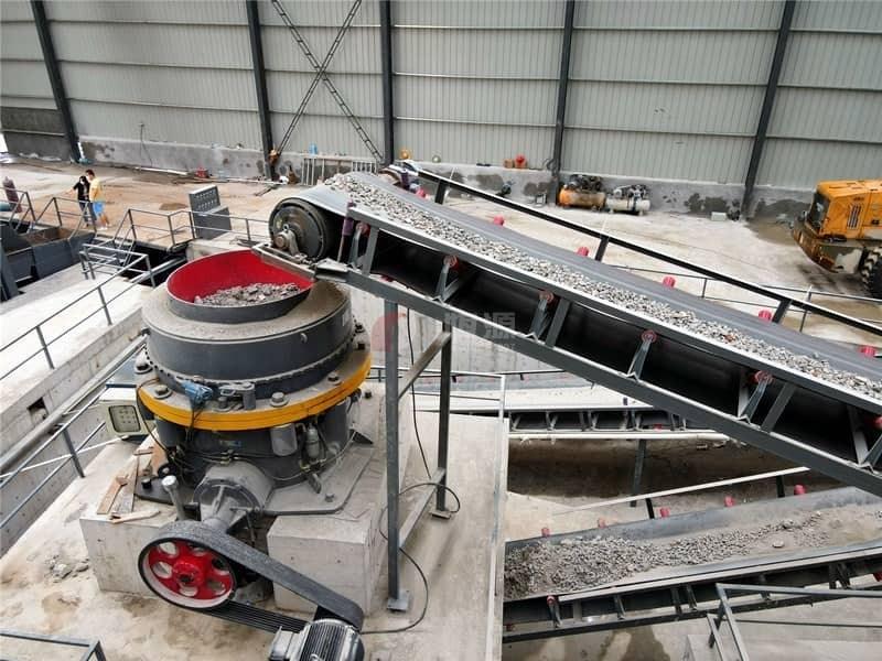 混凝土破碎生产线试机成功将正式投产