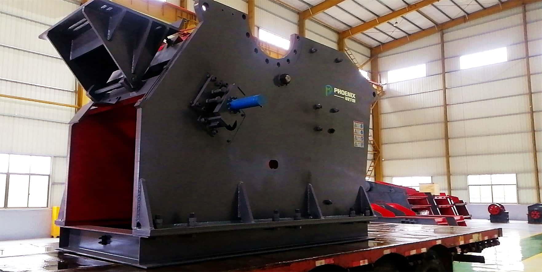 PV912颚式破碎机发往内蒙古进行安装