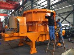 制砂机快速加工2000方河卵石,制砂机设备展实力