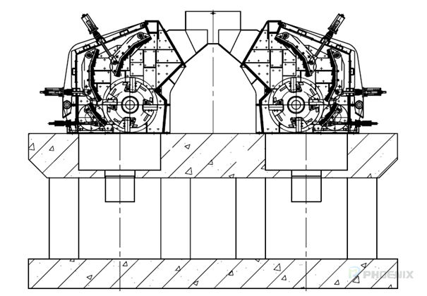 Installation diagram of impact crusher