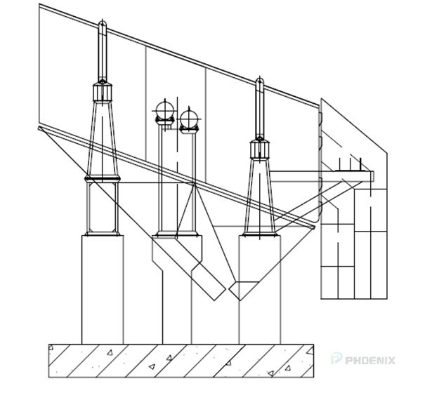 Vibration screen installation sketch