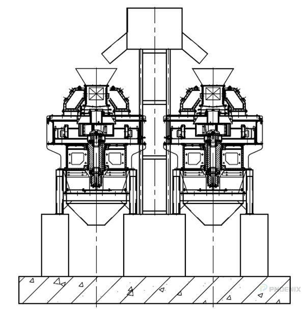 Installation sketch of sand making machine