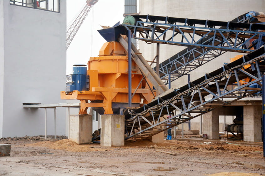 Site map of sand making machine